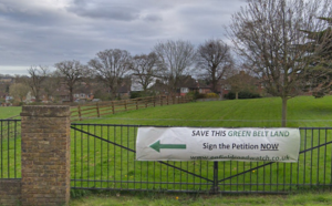Save the Green Belt sign