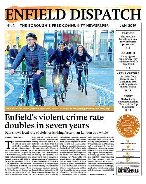 Enfield Dispatch #4, January 2019