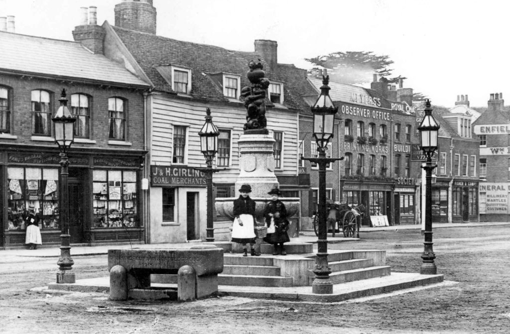 Enfield Town fountain 1895