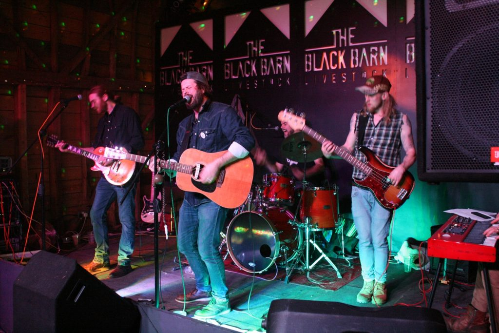 The Blues Chapter performing at the Black Barn