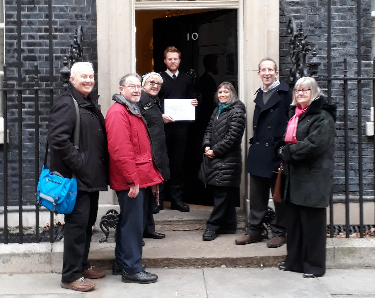 Enfield Town Residents' Association handing in their petition to 10 Downing Street