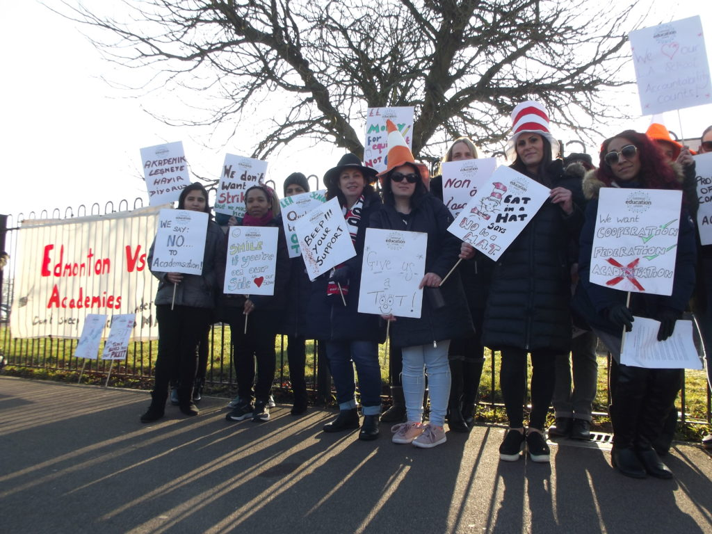 Galliard Primary School teachers on strike