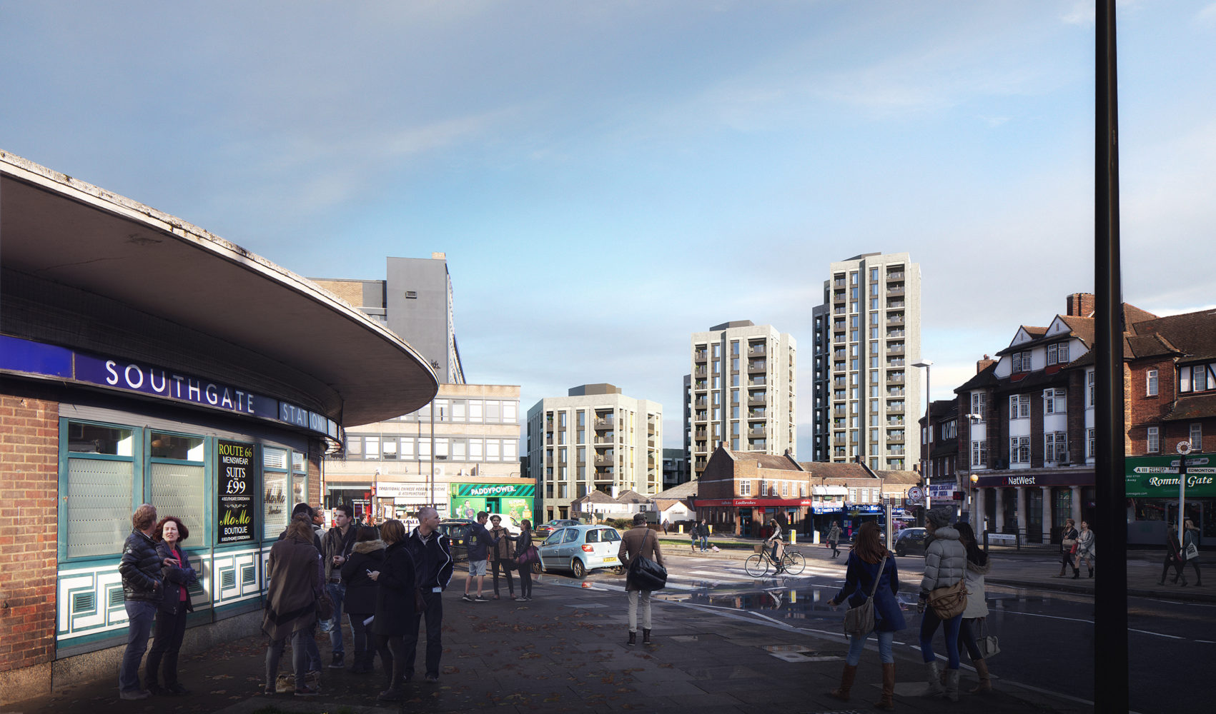 New tower blocks planned in Southgate (credit Viewpoint Estates)