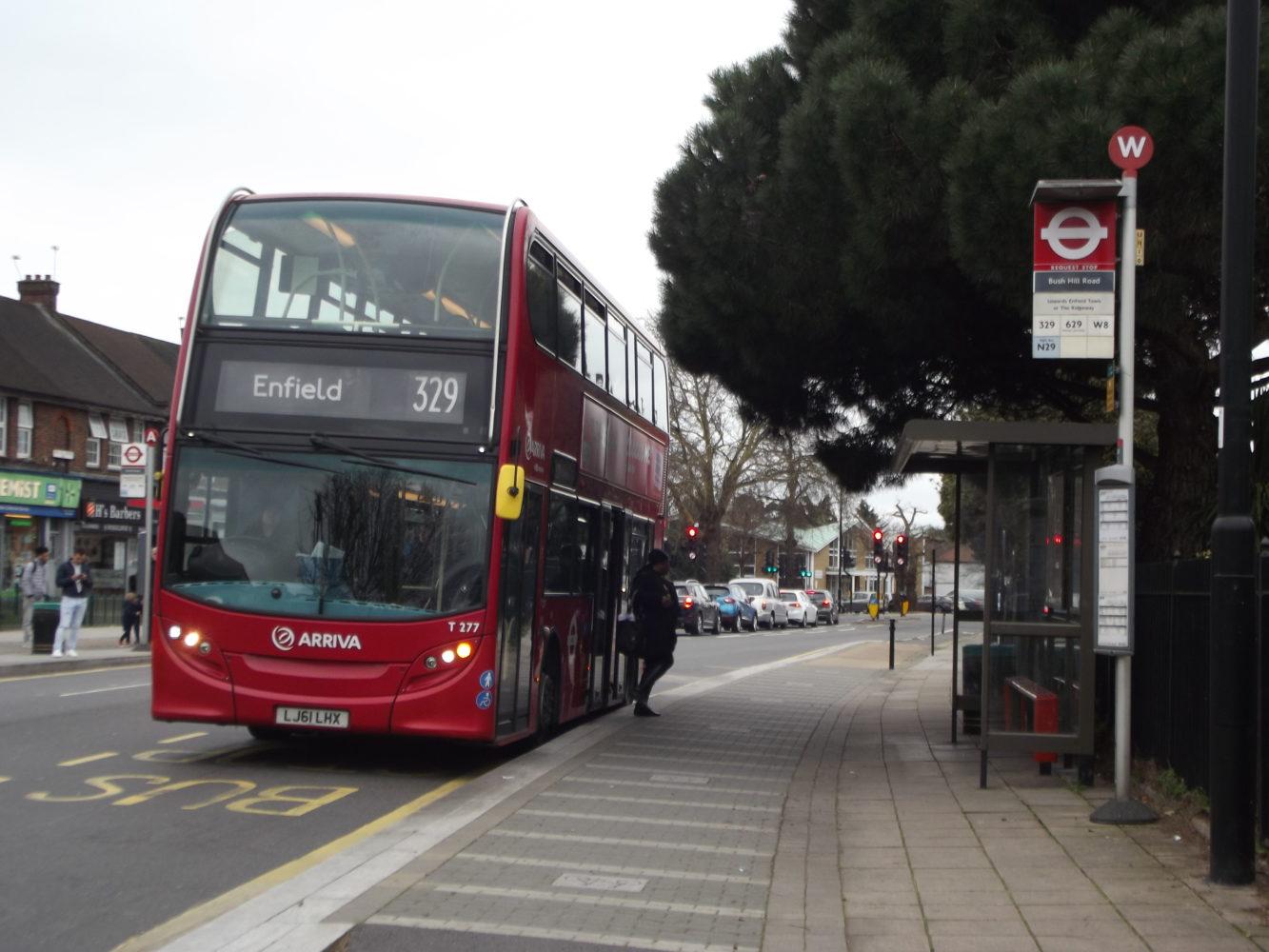 Boarder bus stop in Enfield