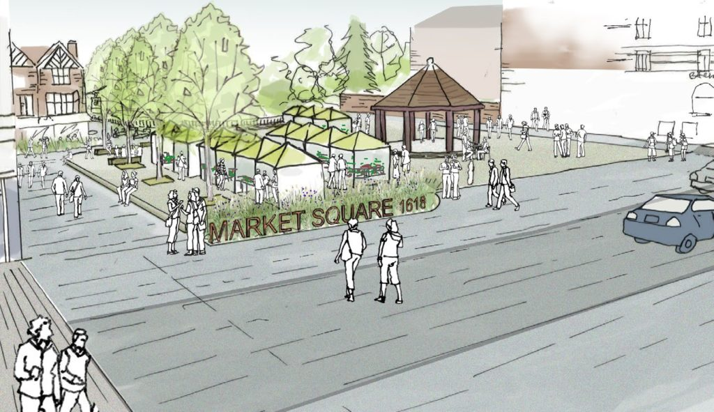 Enfield Market Square artist's impression