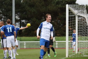Enfield Town midfielder Mickey Parcell (credit Tom Scott)