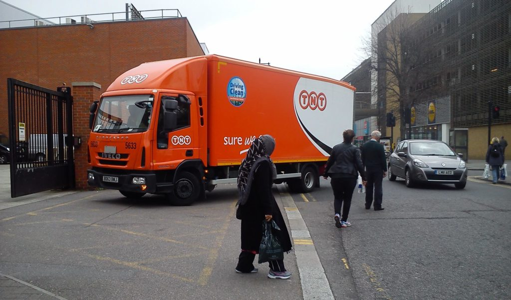 Lorries frequently use Cecil Road