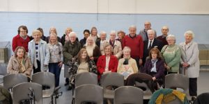 Civil Service Retirement Fellowship members at their April meeting at St Andrews Church Hall, Enfield