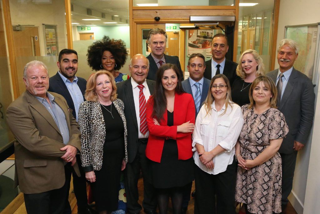 The new Enfield Council cabinet led by Nesil Caliskan (centre)