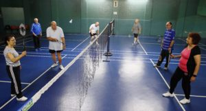 Badminton at Enfield Drill Hall