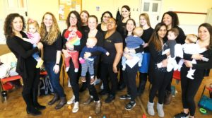 Some of the mums who take part in MumSing sessions on Mondays at St Stephen's Church Hall