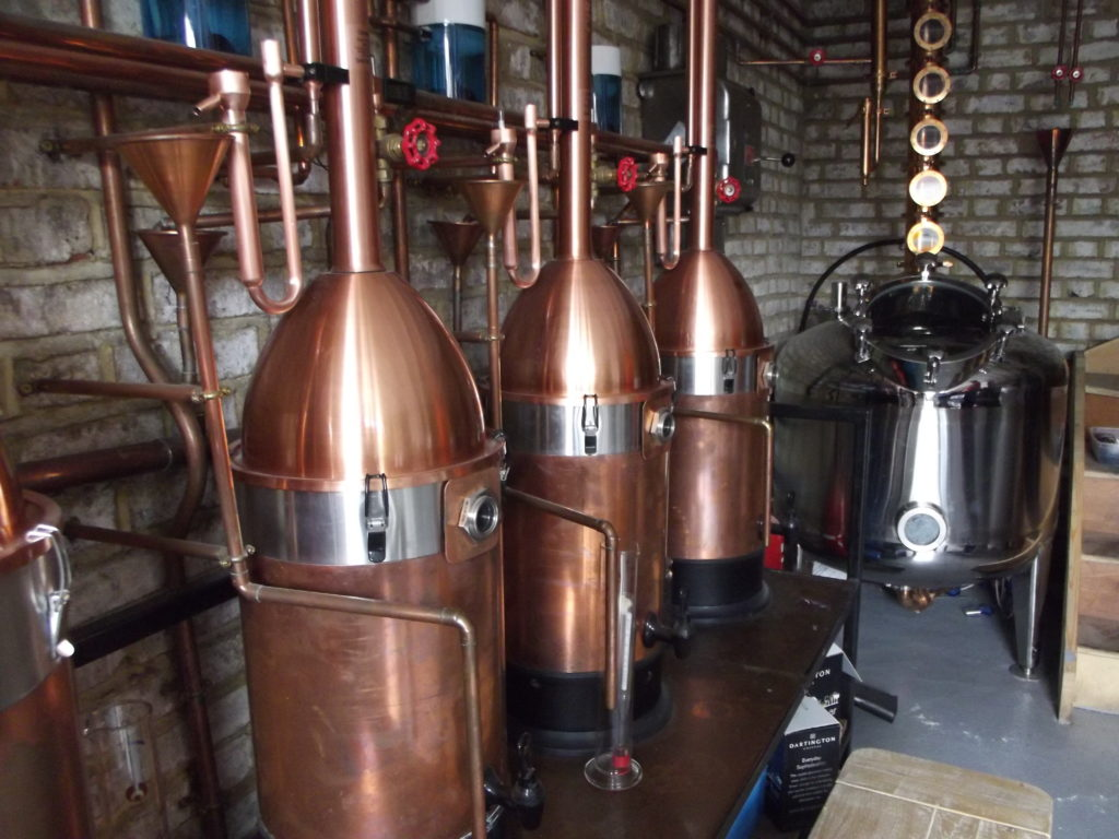 Inside the Old Bakery Gin distillery in Pymmes Mews