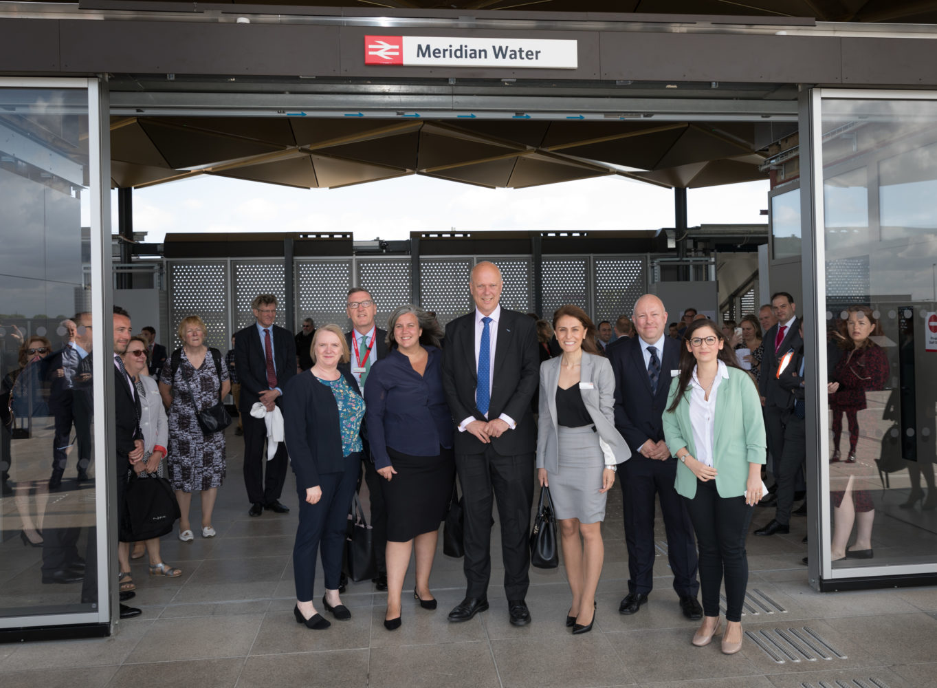 Transport secretary Chris Grayling at the opening of Meridian Water Station