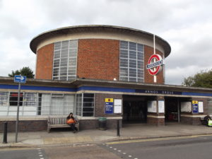 Arnos Grove Station, designed by renowned architect Charles Holden and opened in 1932, is Grade 2*-listed