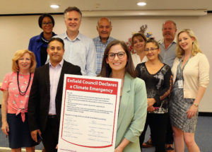 Enfield Council cabinet members celebrate declaring a 'climate emergency'
