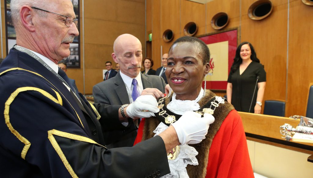 Councillor Kate Anolue at her mayor-making ceremony