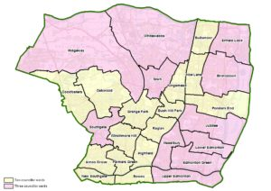 Map of the new ward boundaries proposed by the Boundary Commission