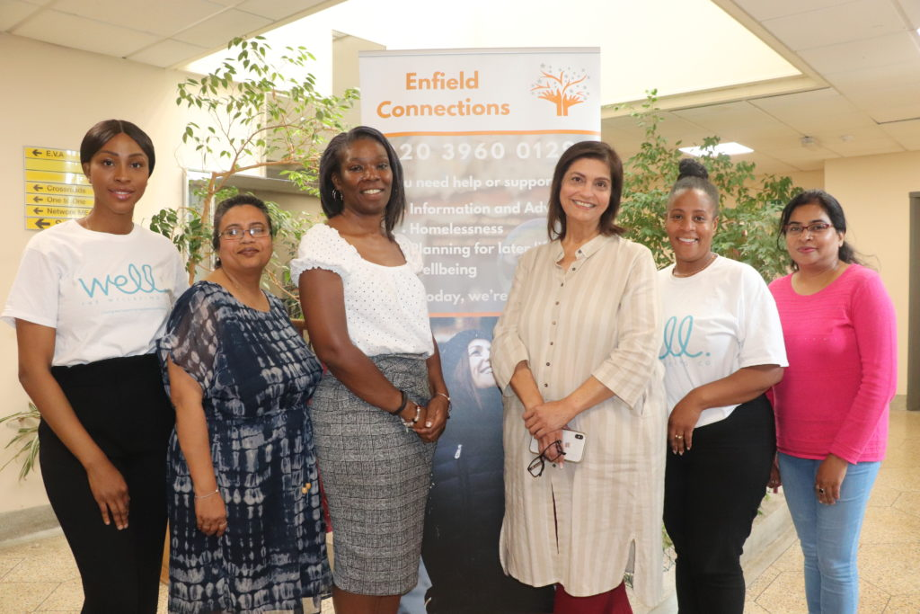 Enfield Connections programme manager Angela Greaves with 'Community Chest' recipients