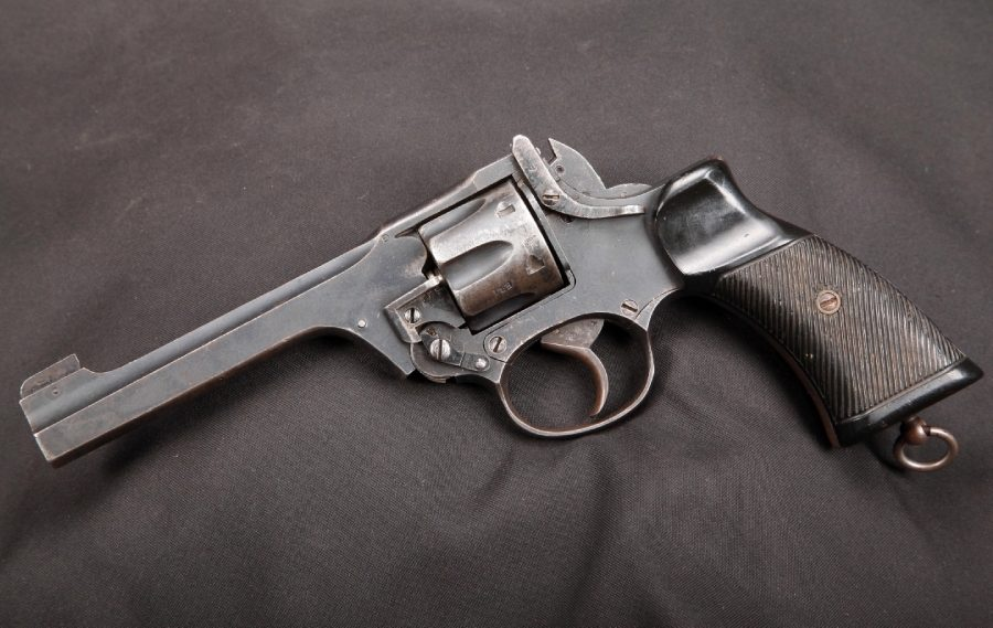 Enfield No2, a standard-issue revolver during the Second World War