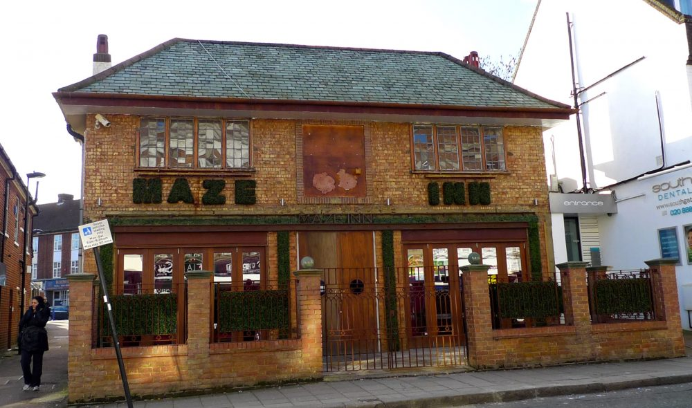 The Maze Inn as it looked shortly before its closure in 2016