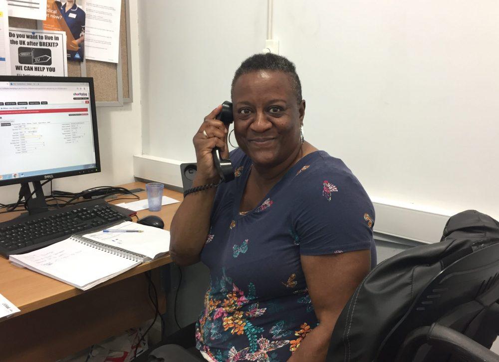 Age UK Enfield volunteer Sandra Kirwan