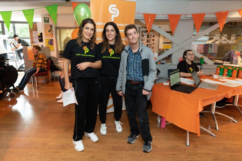 Adult CP Hub founders Emma Livingstone (left) and Miriam Creegar (centre)