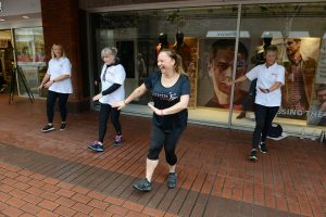 Anne-Marie Sanderson (centre) runs a local dance class in Enfield