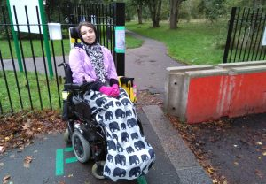 The entrance to Broomfield Park nearest to Nina Grants home was blocked by a concrete barrier