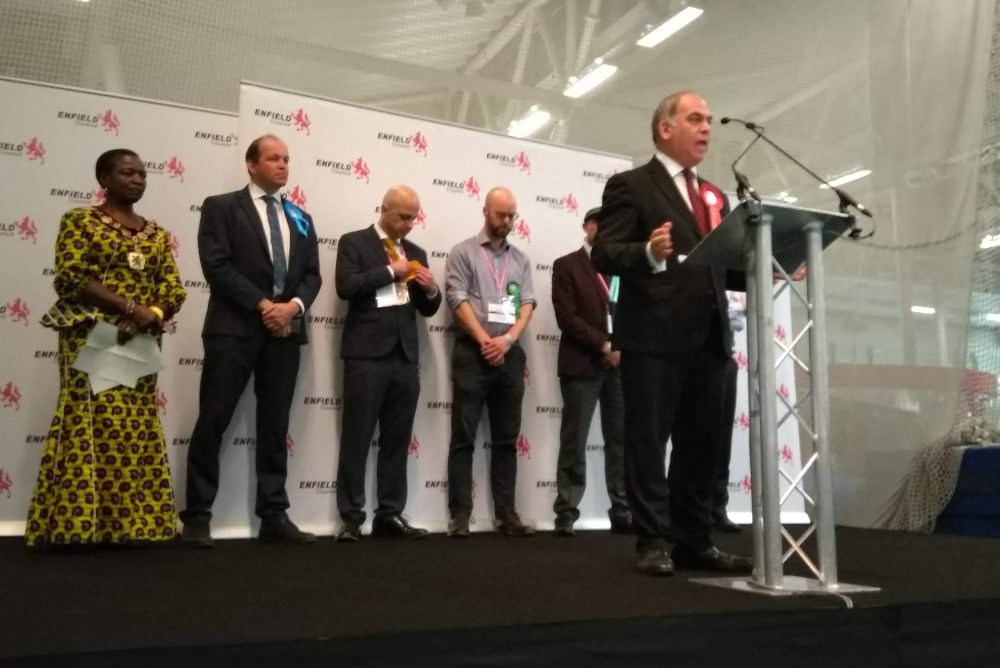 Bambos Charalambous gives his victory speech