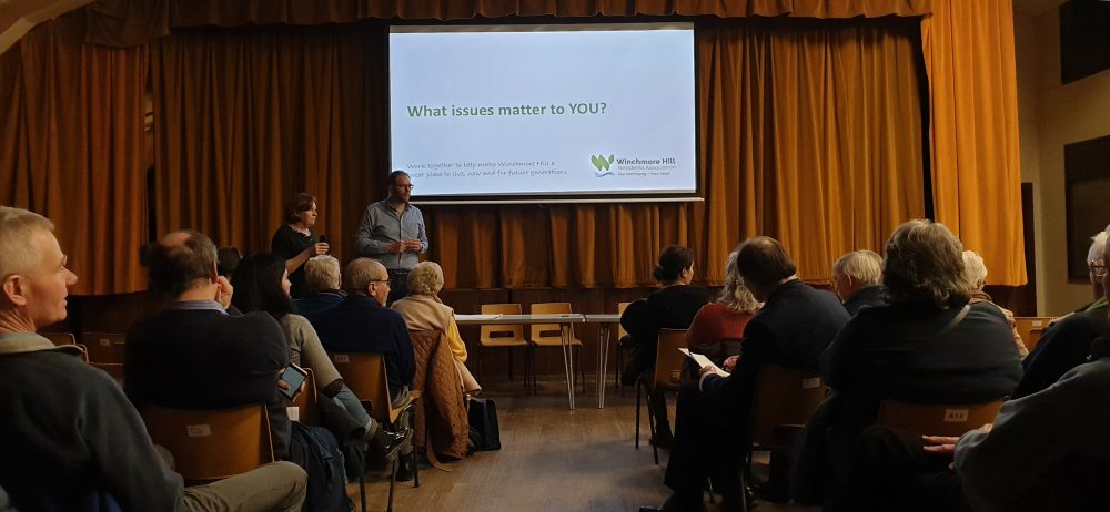 A meeting held last month to relaunch Winchmore Hill Residents Association