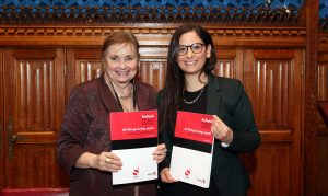 Enfield Council leader Nesil Caliskan and Baroness Tyler of Enfield at the launch of the Enfield Poverty and Inequality Commission