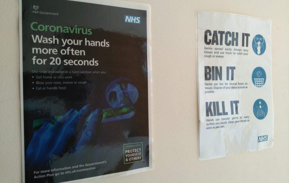 Coronavirus advice posters