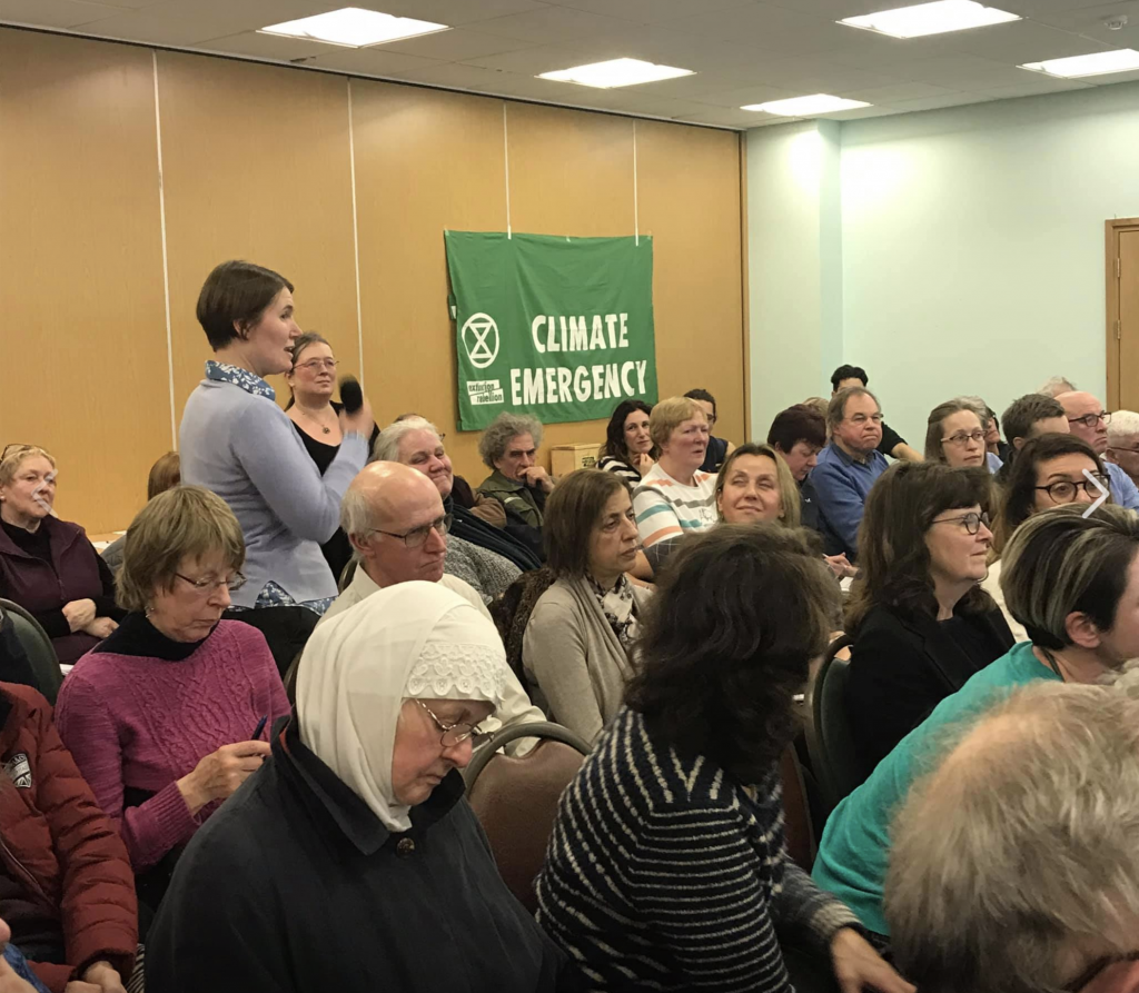 People share their ideas at the inaugural meeting of Enfield Climate Action Forum in January