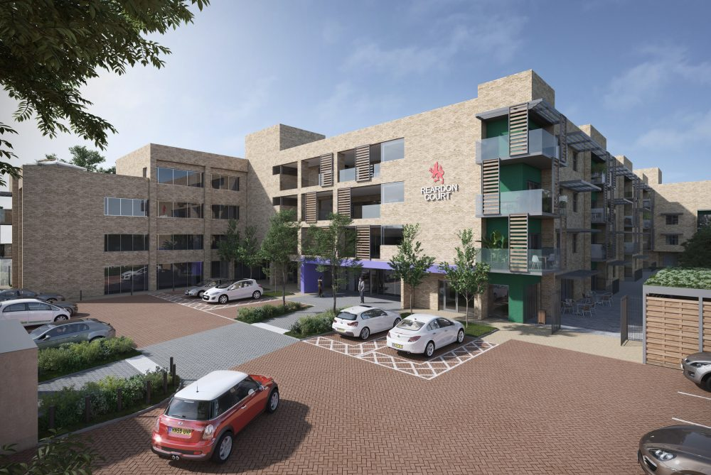 A computer-generated image of how the care home at Reardon Court will look