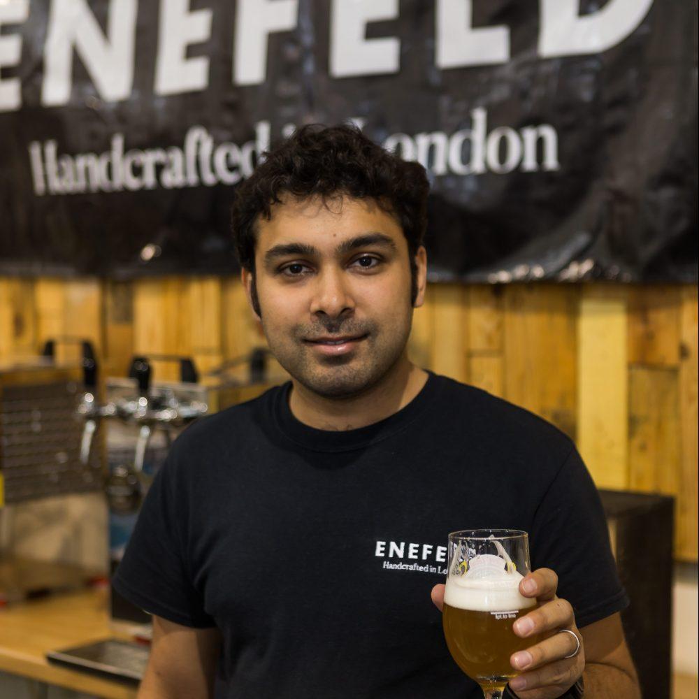 Rahul Mulchandani, owner of Enfield Brewery, makers of Enefeld beer