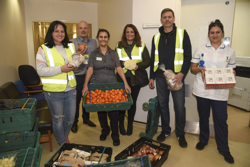 Food donations arrive at North Middlesex Hospital