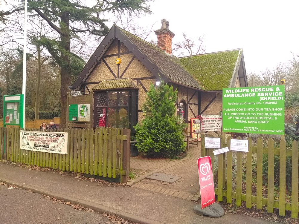 The animal sanctuary run by Wildlife Rescue and Ambulance Service in Trent Park