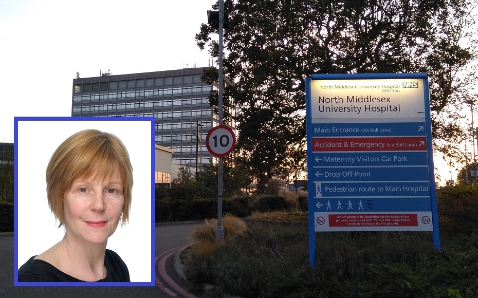 Maria Kane (inset) is chief executive of North Middlesex University Hospital in Edmonton