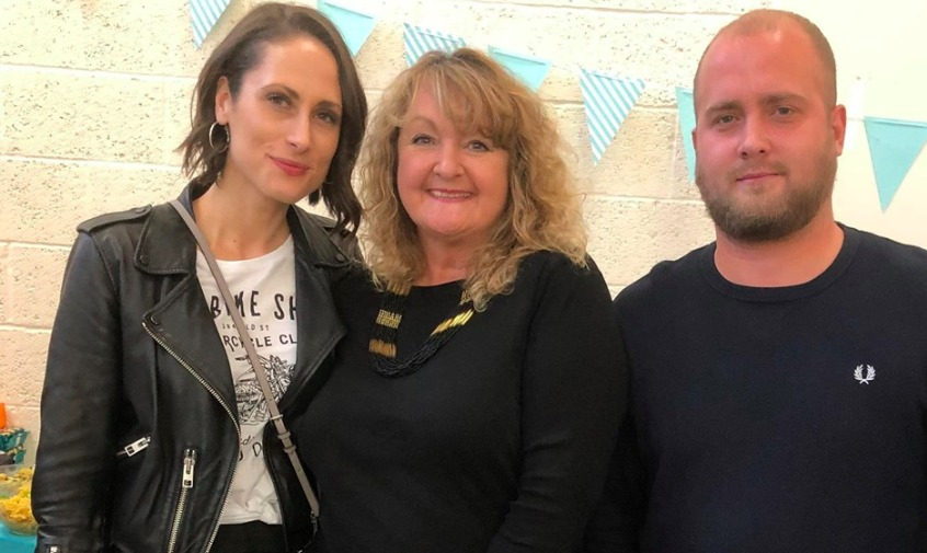 Paula Brotherston (centre) with children Lauren (left) and Marc (right)