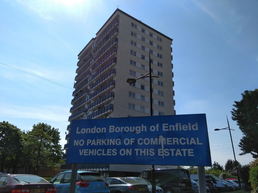 A tower block in Enfield borough