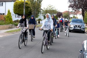 A family-friendly bike ride organised by Enfield Council last year