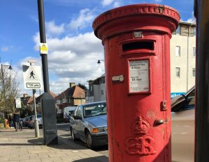 A rare postbox marked with the emblem of Edward VIII in Dennis Parade, Southgate (credit David Chandler)
