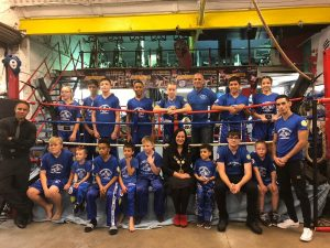 Councillor Saray Karakus, then the mayor of Enfield, on a visit to Supreme Kickboxing in 2018. The club has not yet been able to resume indoor training.