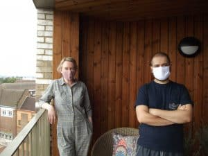 Prowse Court leaseholders Edel Smullen (left) and Basim Jafar (right) have been told the timber cladding on their balconies does not meet the required fire safety standard