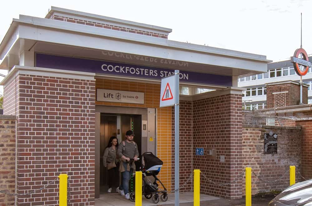 The new lift installed at Cockfosters Station