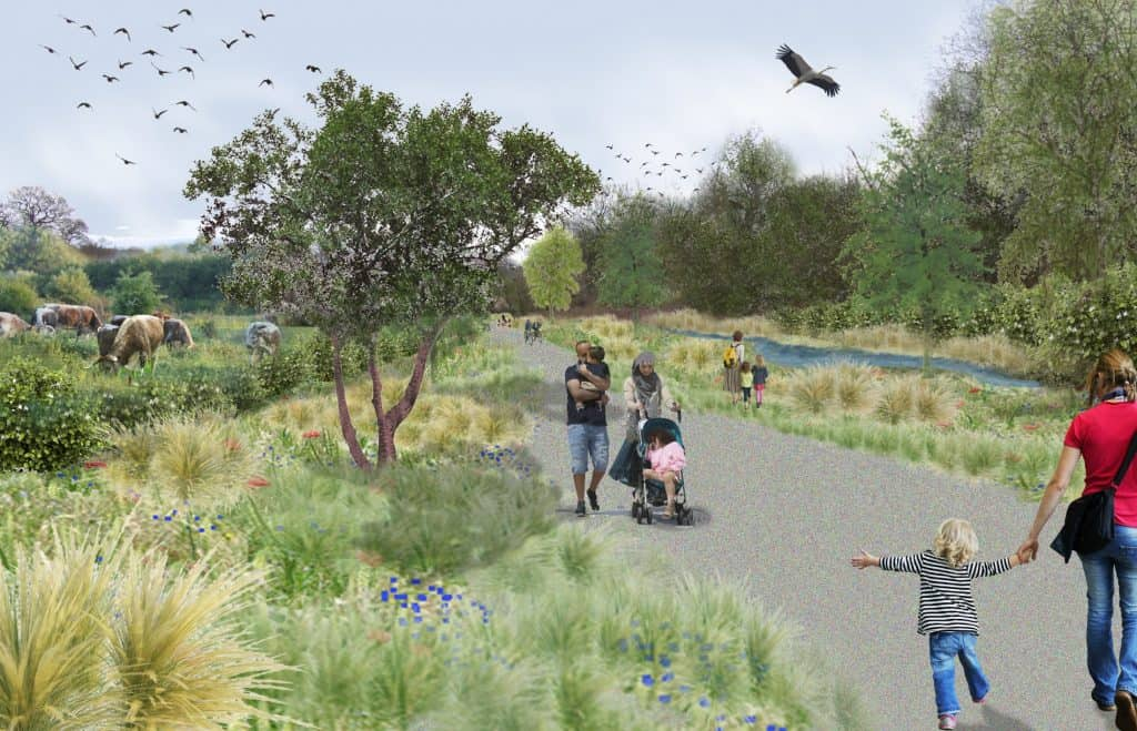 Enfield Chase Restoration Project will create a woodland alongside the valley of Salmons Brook, to the north of Trent Park