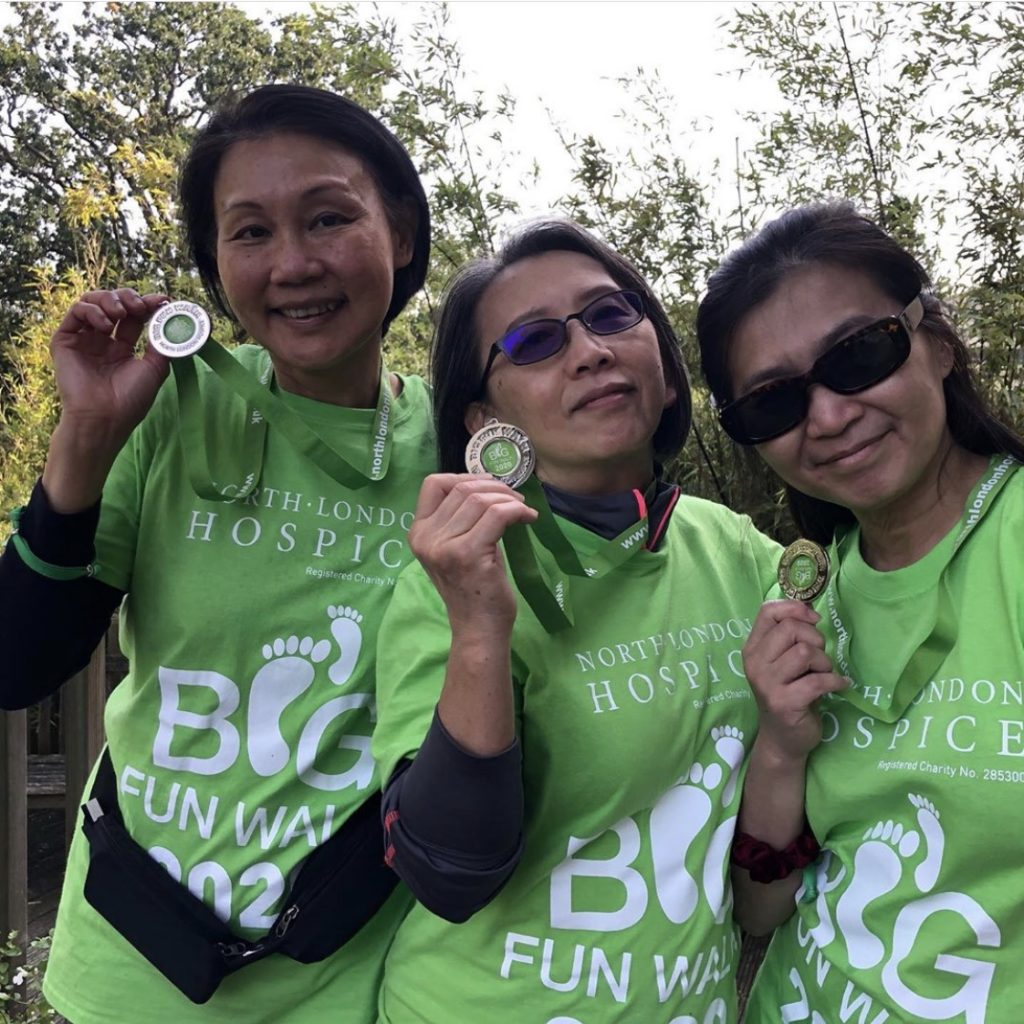 Instead of all walking the same route together, participants of My Big Fun Walk were encouraged to pick their own routes
