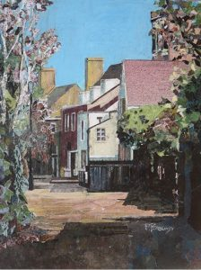 Peter Brown's painting of Gentleman's Row is one of 140 works of art up for sale at Enfield Art Circle's online exhibition