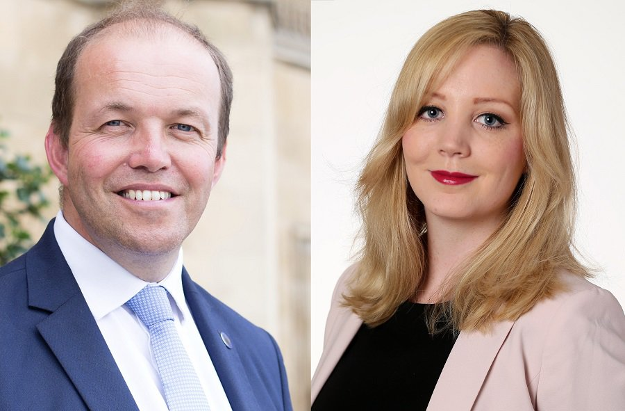 Former Tory MP David Burrowes, left, admitted printing a false claim about Labour councillor Claire Stewart, right