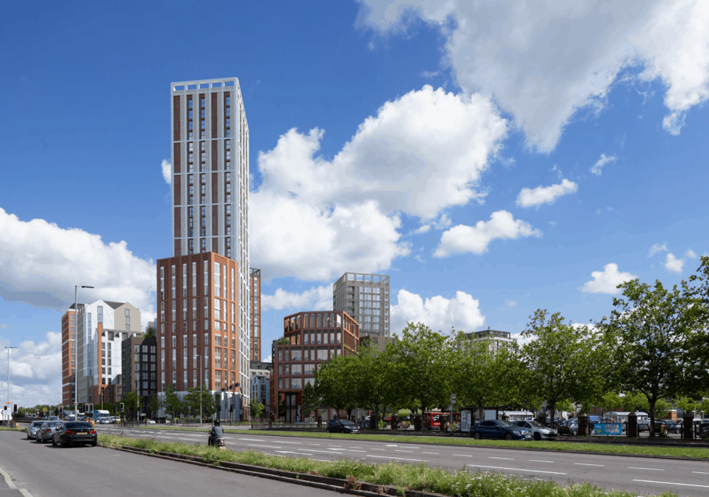 The 29-storey tower planned for Colosseum Retail Park in Southbury